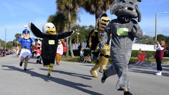 I was a little concerned that the mascots were waiting