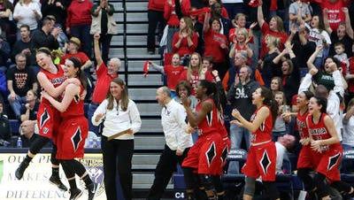 Lakota West celebrated its regional title Saturday night at Trent Arena