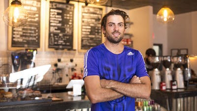 Australian Mitchell Watt, a 2012 Olympic silver medalist, is training at World Athletics Center and running Maverick Coffee in Scottsdale.