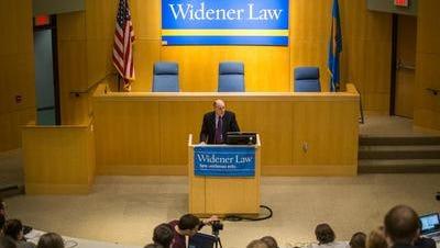 Delaware Supreme Court Justice Leo E. Strine spoke at Delaware Law School as part of its Ruby R. Vale Distinguished Speaker Series.