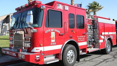 Indio firefighters responded to a structure fire Saturday.