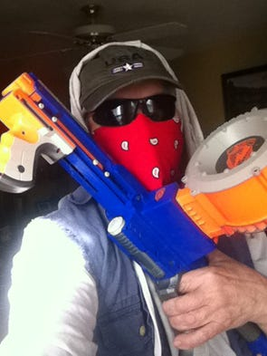 "This #ShowUsYourGuns photo came from Tom & Peg Leavitt via email with the subject line, ""Pry it from my cold dead fingers."""