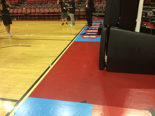 USA basketball stanchion