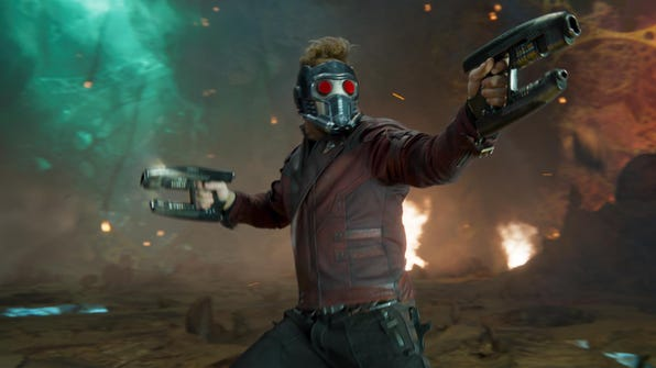 """Star-Lord/Peter Quill (Chris Pratt) is ready to fire on all cylinders in """"Guardians of the Galaxy Vol. 2."""""""