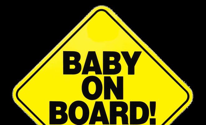 M sticker on car - Happy Birthday Baby On Board Sign