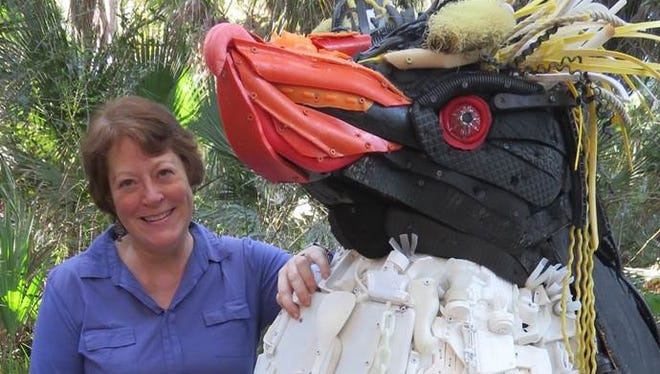 """Angela Pozzi is the lead artist and executive director of Washed Ashore. Its theme? """"Art to save the sea."""""""