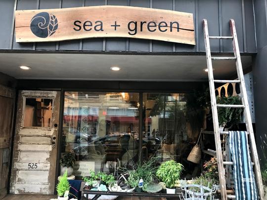 Sea + Green home decor and fair-trade goods shop on