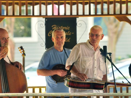 FiberGrass plays for the 2014 Cloverdale-Idlewild Spring Concert Series at Cloverdale Bottom Park on Sunday.