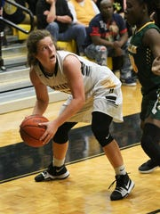 Hendersonville High School player Laney Perry looks