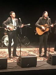 The Avett Brothers perform in New York on Jan. 24, 2018.