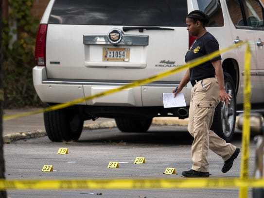 ATF agents investigate following a shooting at the