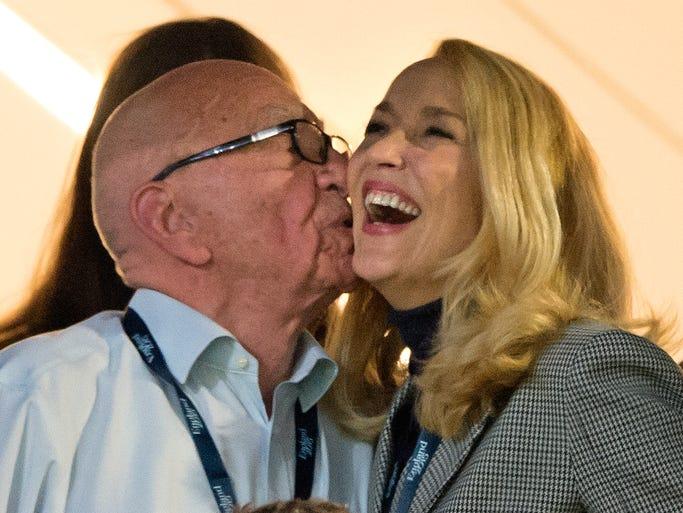 Rupert Murdoch and Jerry Hall announced their engagement,