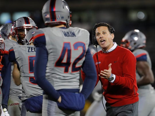 Head coach Bob Diaco and the Connecticut Huskies are