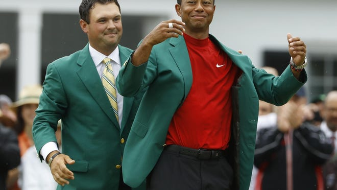 Tiger Woods' reign as Masters champion has been extended due to the COVID-19 outbreak. The golf major, which would have played its first round Thursday, is targeting play in November.