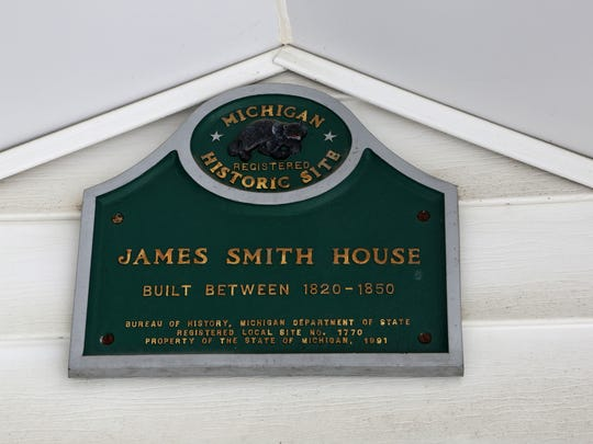 A plaque issued by the state in 1990 and situated above the front door of the cabin recognizes the James Smith Farm House as one of the city's oldest structures.
