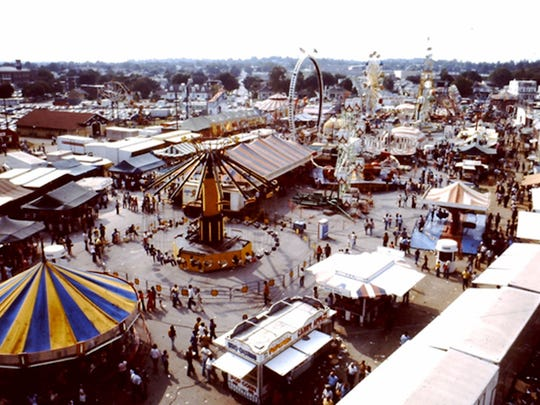 This is an aerial view of the 1978 midway.