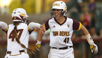 ASU softball first baseman Danielle Gibson made All Pac-12 first team as a freshman and is among the conference leading hitters.