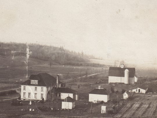 An undated historic photo of the Leelanau County Poor