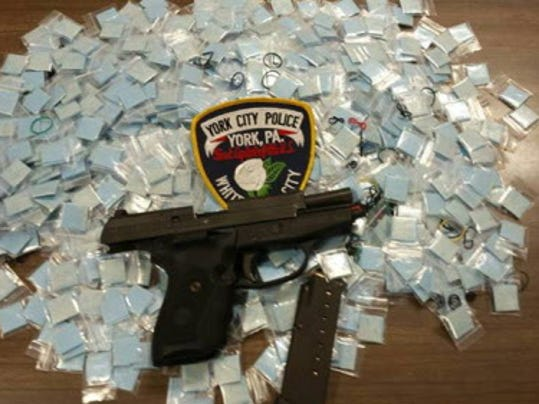 Heroin seized by York City Police in March is pictured.