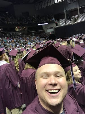 Local comedian Jaron Myers snuck into Missouri State's graduation and had his name called out to a JQH Arena crowd even though he's never been enrolled at the university.