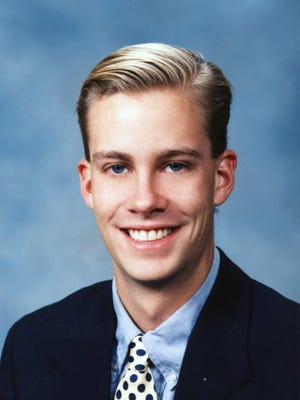 Scott Johnson, shown in this undated photo, who grew up in New Jersey, and is the grandson of H. Norman Johnson of Racine, Wis., was missing since the attack Tuesday, Sept. 11, 2001, on the World Trade Center in New York City where he worked. Johnson, 26, works for Keefe, Bruyette and Woods, an investment banking firm located on the 85th, 88th and 89th floors of the World Trade Center's second tower to be hit in the attack. It was the first tower to collapse.