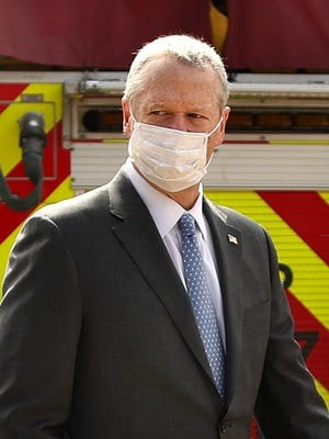 Facial covering are required in Plymouth and the rest of Massachusetts by order of Gov. Charlie Baker.