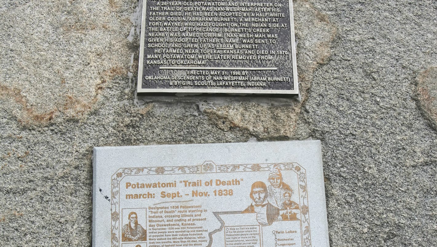 Indiana marshall county tippecanoe - Old Lafayette Potawatomi Trail Of Death Passed Through Tippecanoe County
