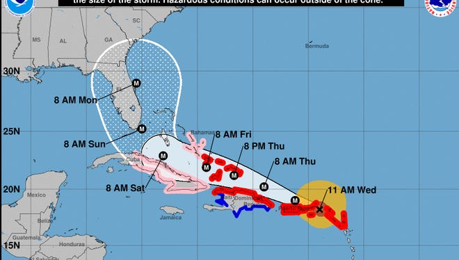 Sept. 6, 11 a.m. update on Hurricane Irma from the NHC.