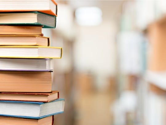 A stock image showing library books.