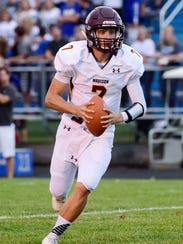 Madison quarterback Josh Giles has thrown for 2,203 yards and 34 touchdowns this season.