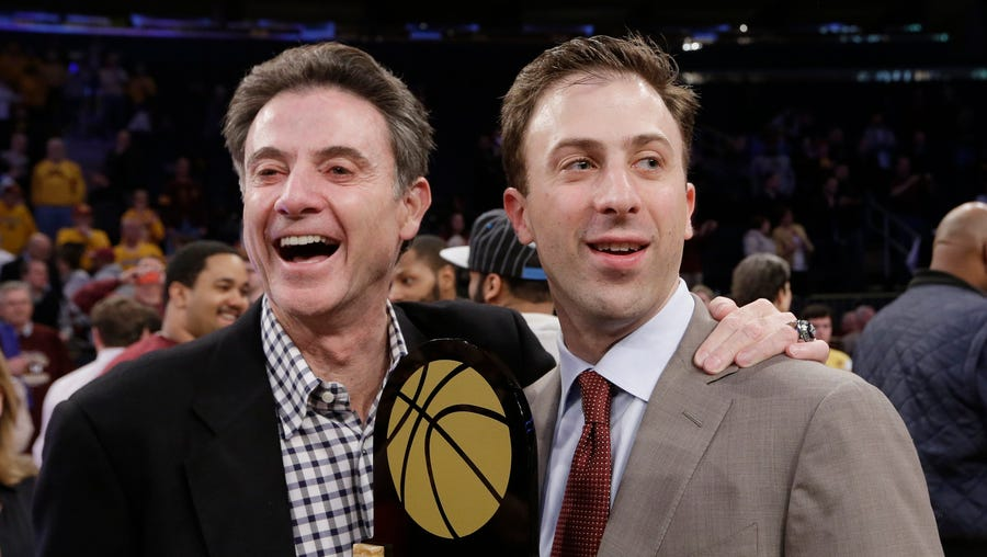 Richard Pitino, right, against his dad's old program? Finally, the NCAA manages to do what so few have: Come up with a Pitino joke that's safe for work.