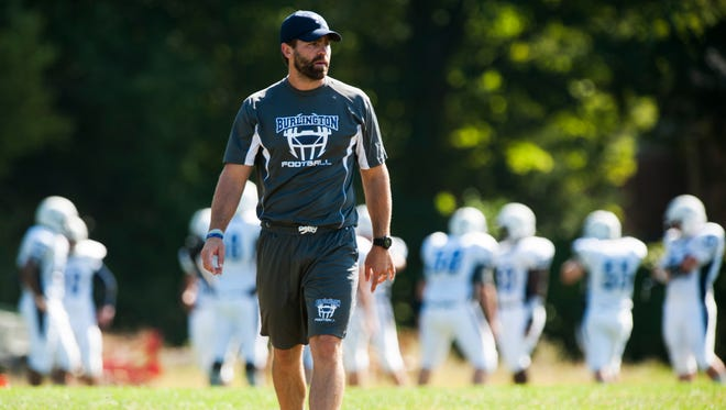 Brennan Carney , seen in this file photo, stepped down following 10 years as head football coach of the Burlington Seahorses.