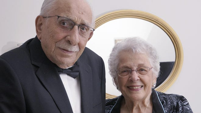 Sam and Mary Mininni married 75 years ago.