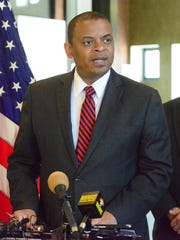 U.S. Transportation Secretary Anthony Foxx celebrates