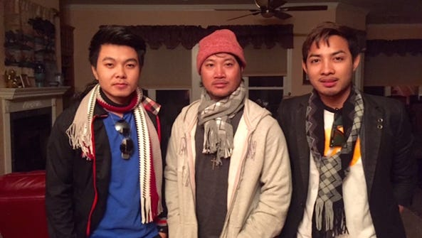 From left are Cambodians Rotha Koa, Sothea Theoung