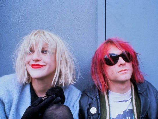 Courtney Love and Kurt Cobain in a photo from the documentary