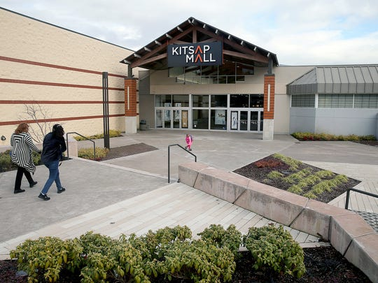 The main entrance and courtyard of the Kitsap Mall in Silverdale.