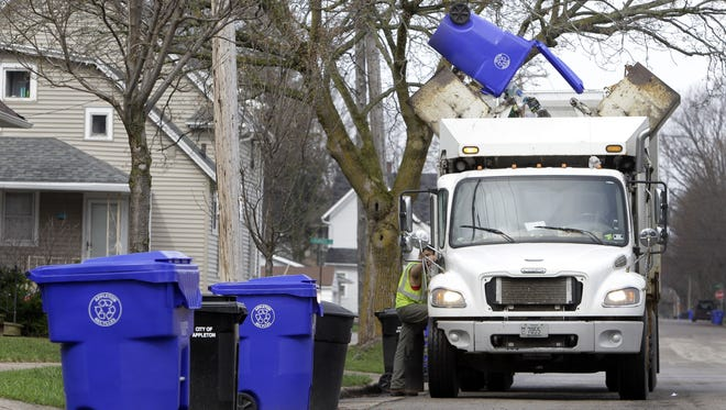 Appleton is among the Fox Cities communities that have automated curbside collection of garbage and recyclables.