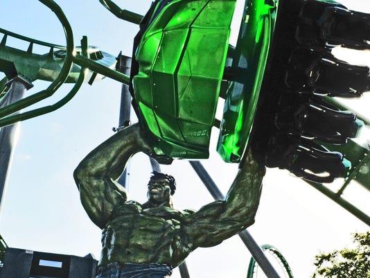 Universal Studios revamped Hulk coaster