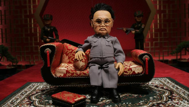 "Kim Jong Il, voiced by Trey Parker, is a villain in the 2004 puppet comedy ""Team America: World Police."" Paramount Pictures is refusing to allow theaters to show the flick."