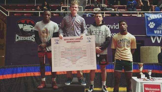 North Henderson sophomore Paul Search won his weight class at the Holy Angels Invitational wrestling tournament held Friday and Saturday in Charlotte.