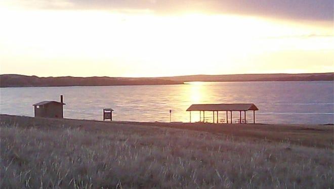 North Bootlegger fishing access, boat ramp on Lake Elwell, AKA Tiber Reservoir.