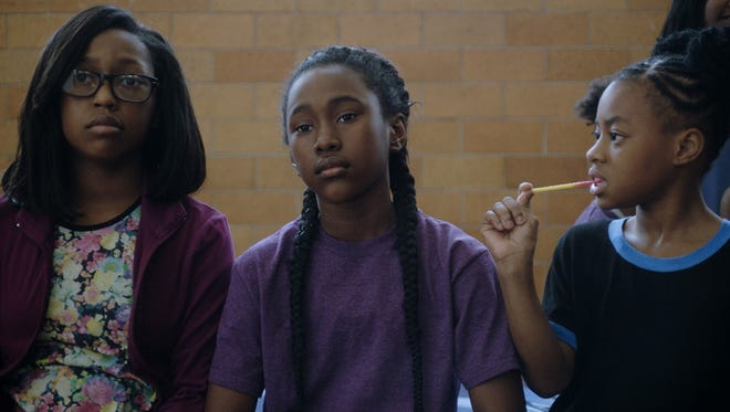 """In """"The Fits,"""" Toni (Royalty Hightower, center) joins a dance team."""