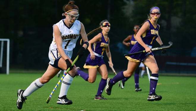 Pocmoke's Peyton Becker with the ball against Crisfield on Monday, Oct. 31, 2016.
