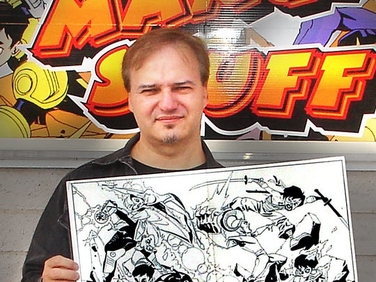 Comic book artist and Indiana native, Andy Kuhn.  Kuhn