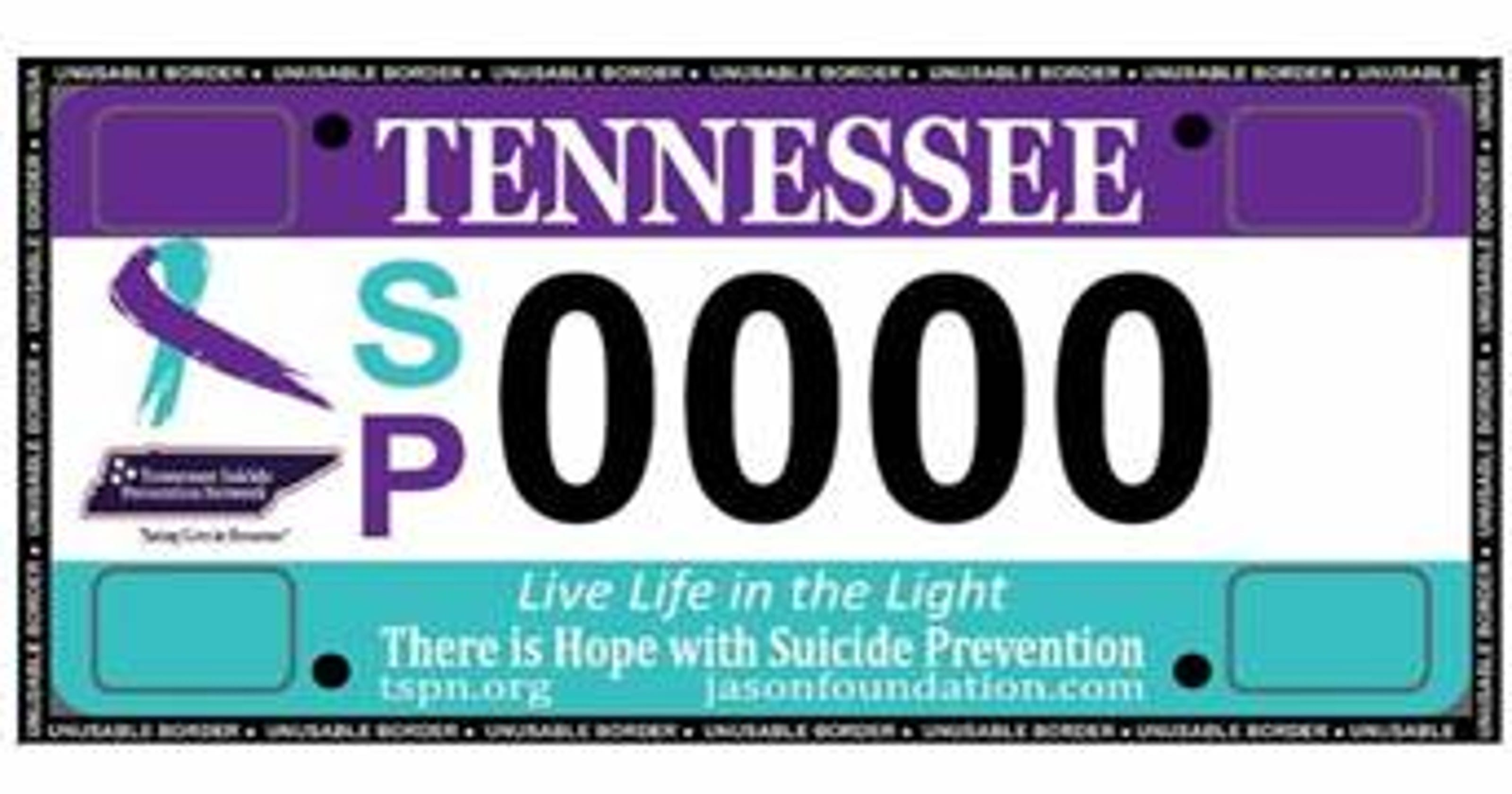 Suicide Prevention Network license plate awareness needs support