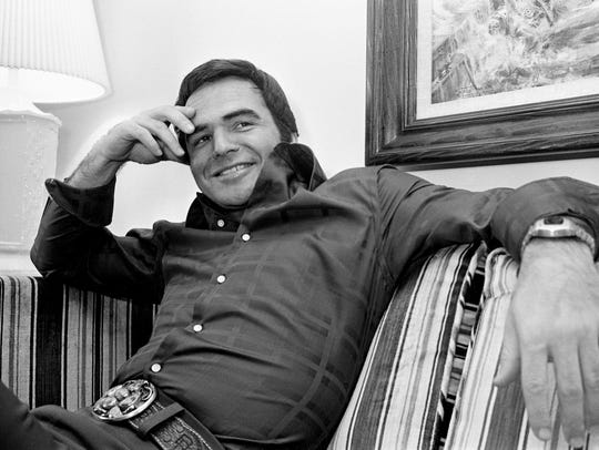"Burt Reynolds promotes the film ""W.W. and the Dixie"
