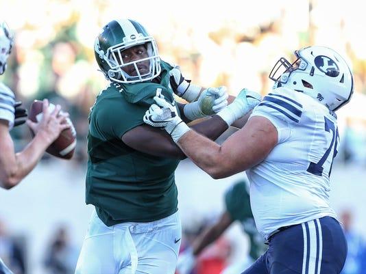 NCAA Football: Brigham Young at Michigan State
