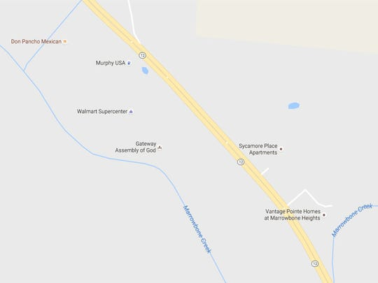 The apartments would be built on Highway 12 South next