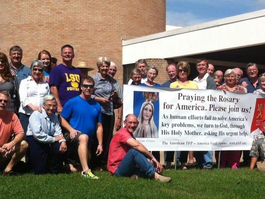 Rosary Rally group